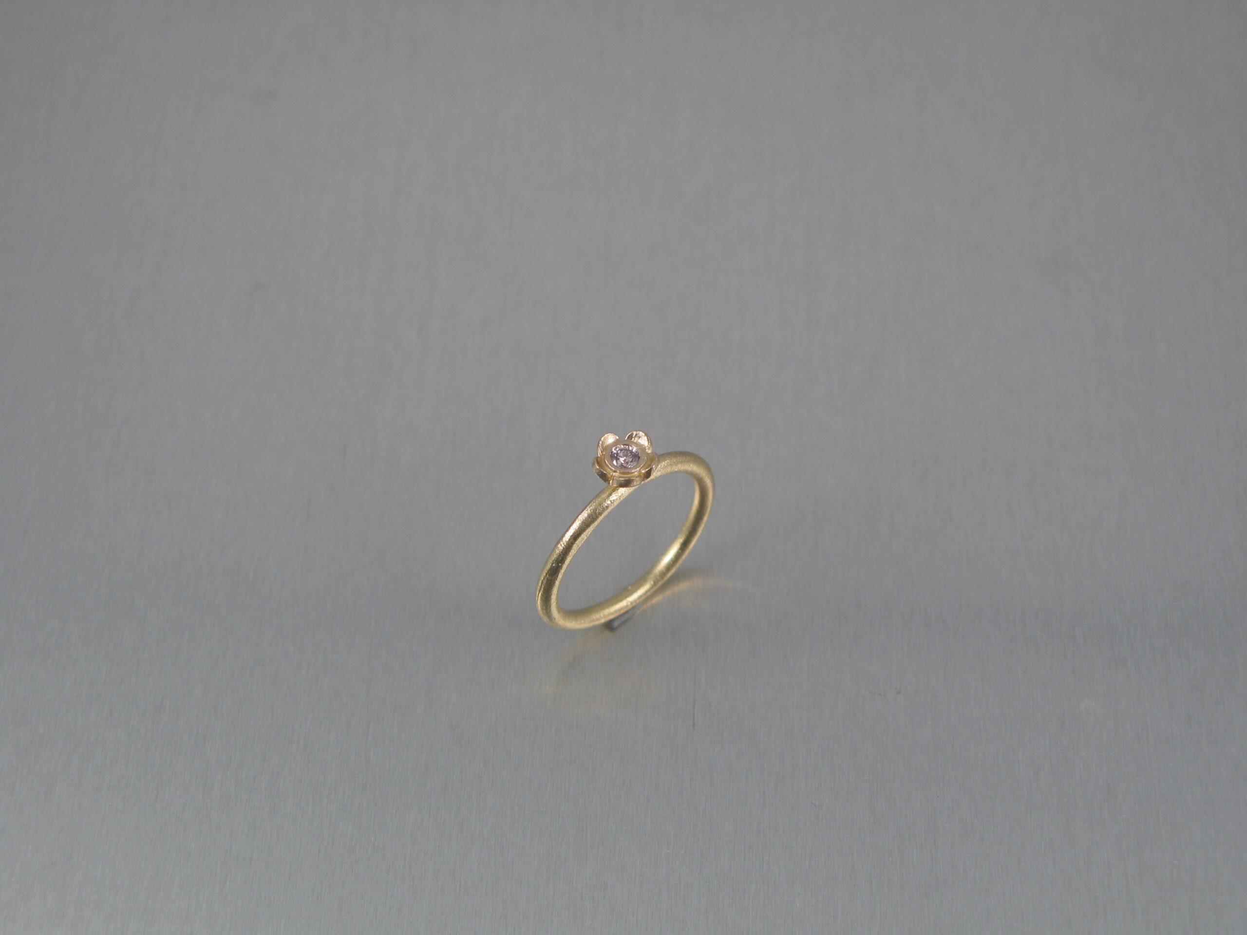 Ring, silver, guld och akvamarin.