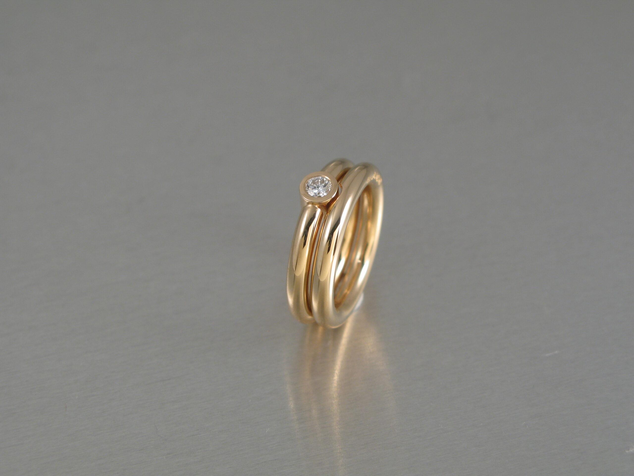 Ringar, guld och diamant