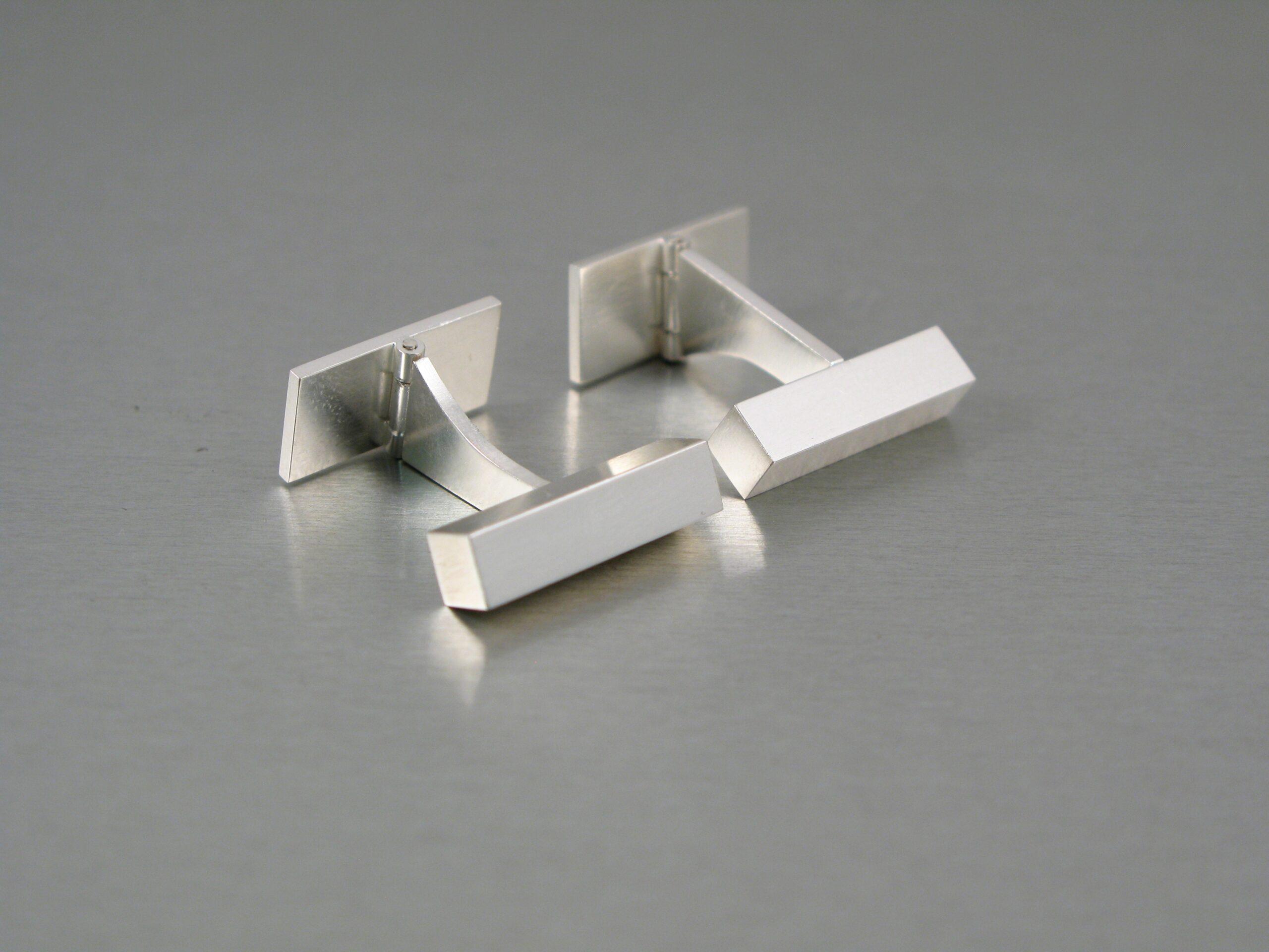 Manschettknappar, silver.