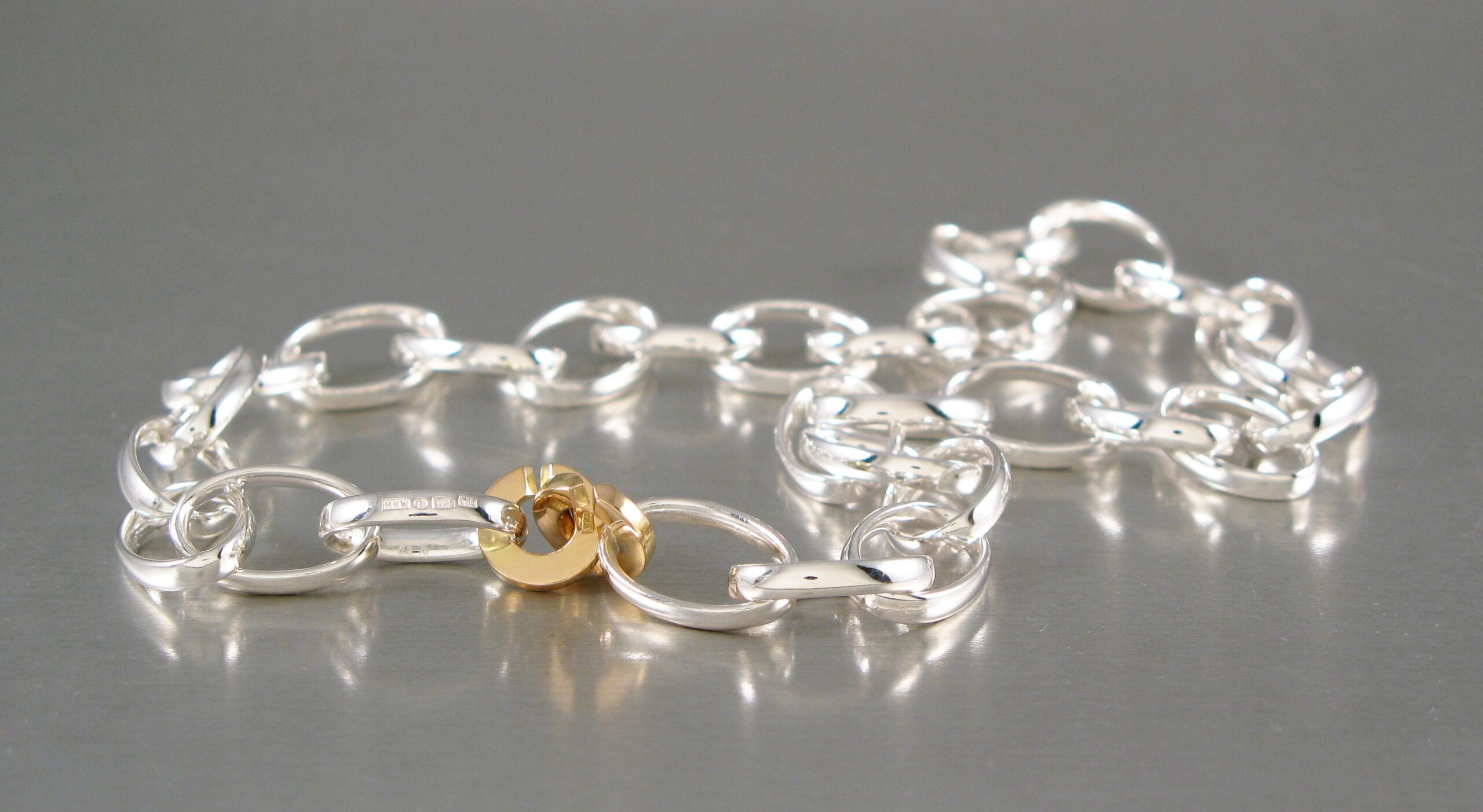 Collier, silver och guld