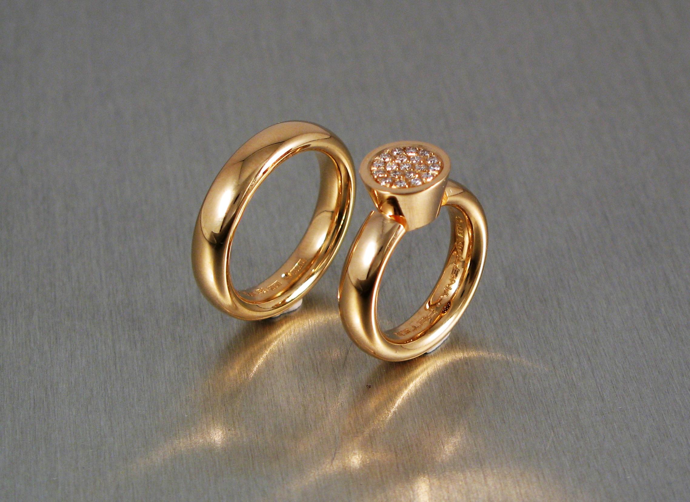 Ringar, guld och briljanter